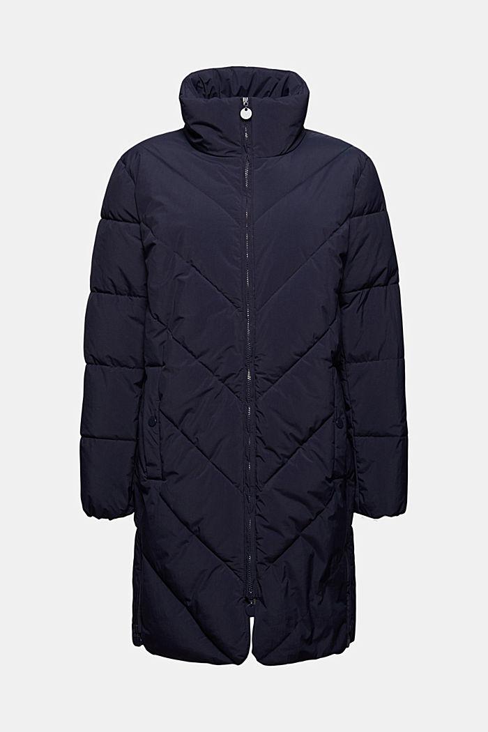 En matière recyclée: le manteau matelassé zippé à la base, NAVY, detail image number 7