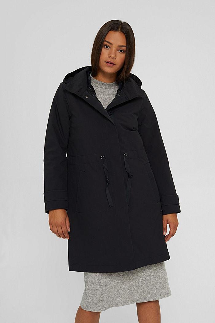 2in1 Regenmantel mit heraustrennbarer Jacke, BLACK, detail image number 0