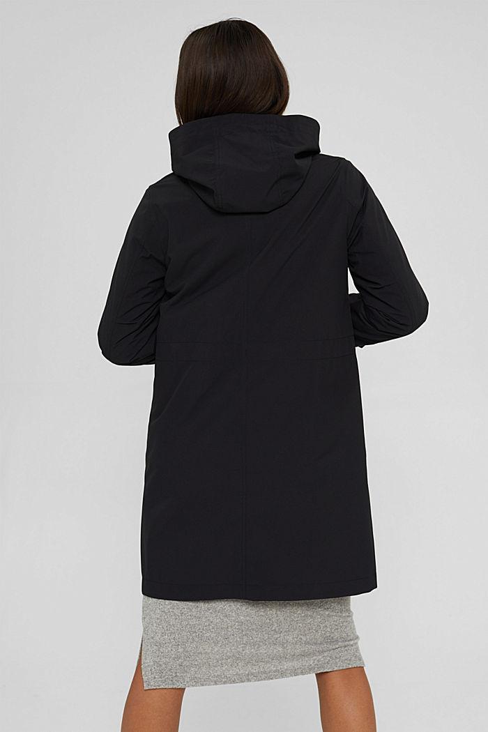 2in1 Regenmantel mit heraustrennbarer Jacke, BLACK, detail image number 3