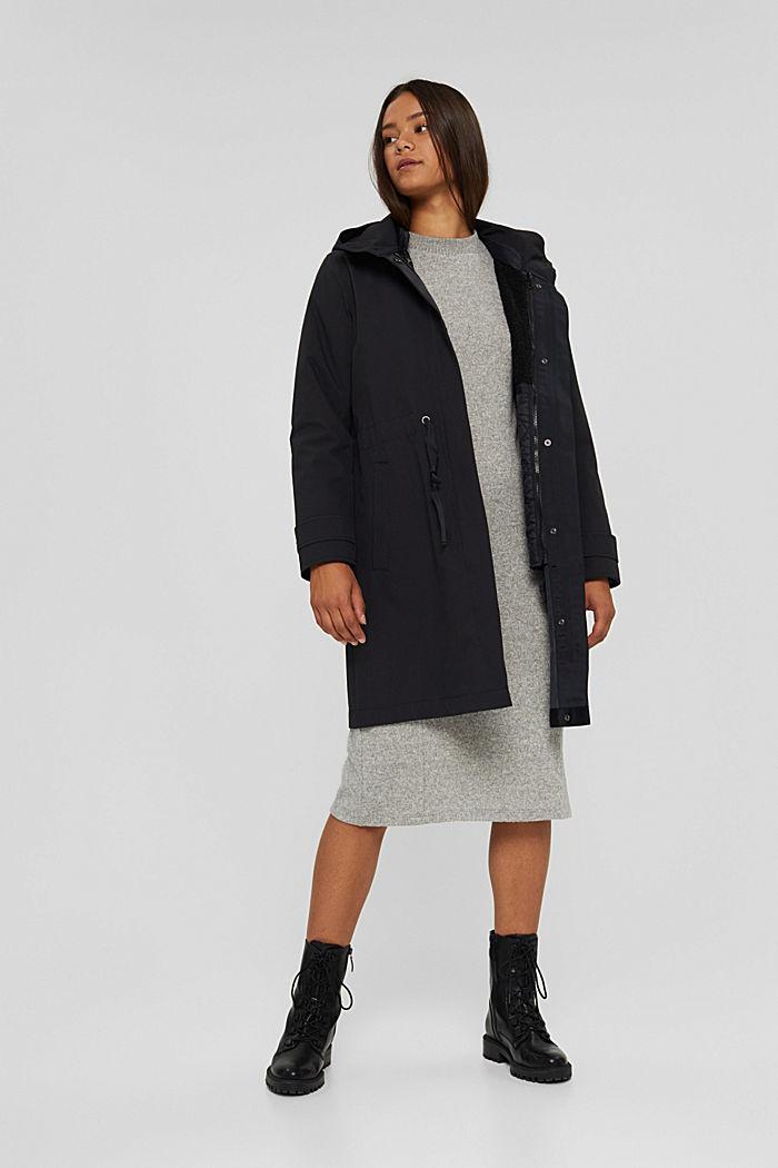 2in1 Regenmantel mit heraustrennbarer Jacke, BLACK, detail image number 1