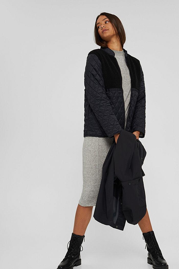 2in1 Regenmantel mit heraustrennbarer Jacke, BLACK, detail image number 6