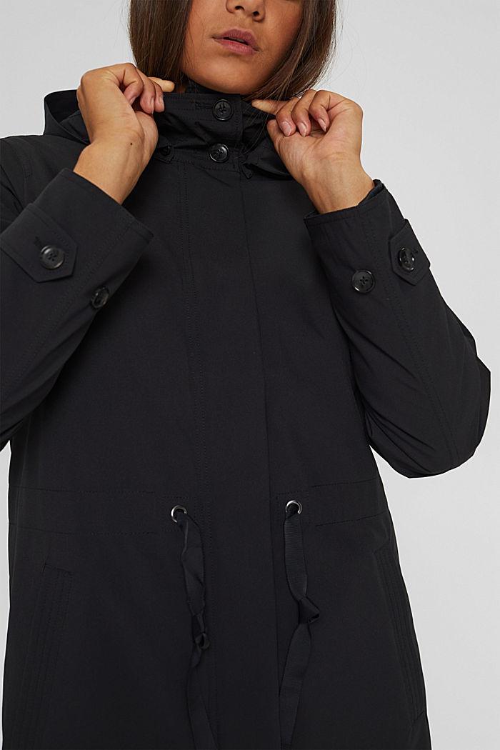 2in1 Regenmantel mit heraustrennbarer Jacke, BLACK, detail image number 2