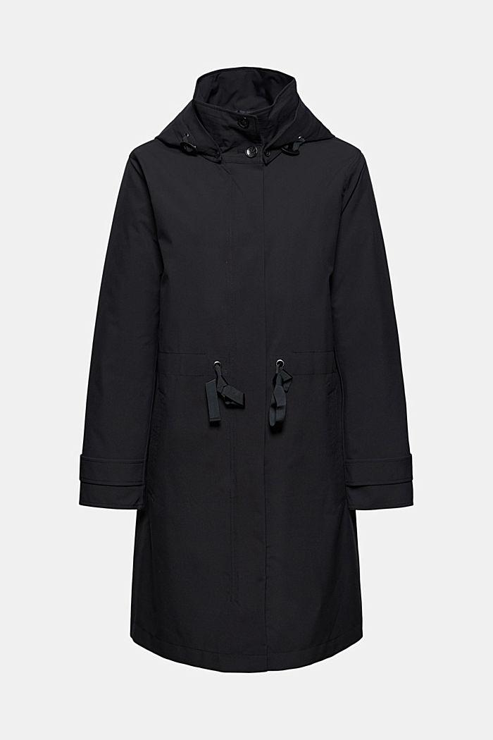 2in1 Regenmantel mit heraustrennbarer Jacke, BLACK, detail image number 7