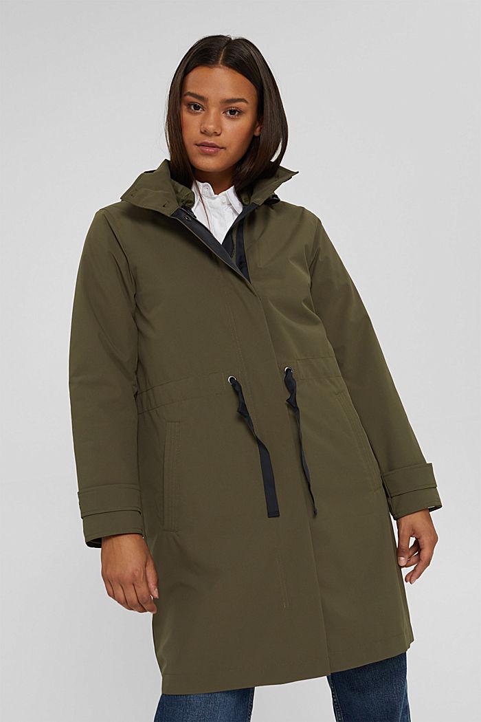 2-in-1 rain coat with a detachable jacket, DARK KHAKI, detail image number 0