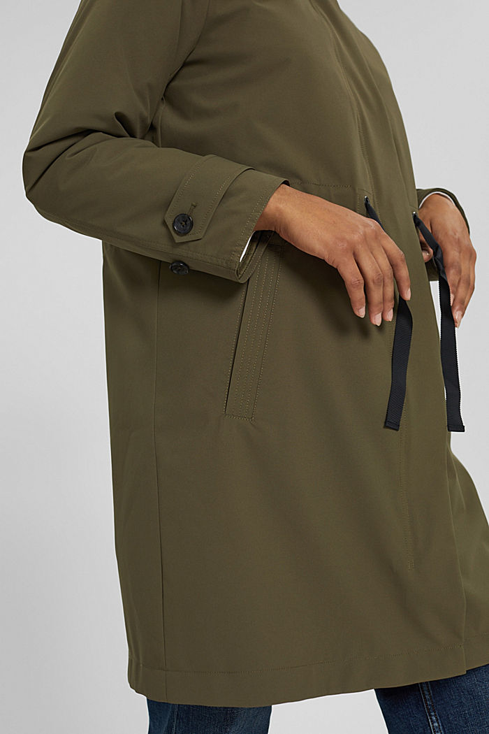 2-in-1 rain coat with a detachable jacket, DARK KHAKI, detail image number 5