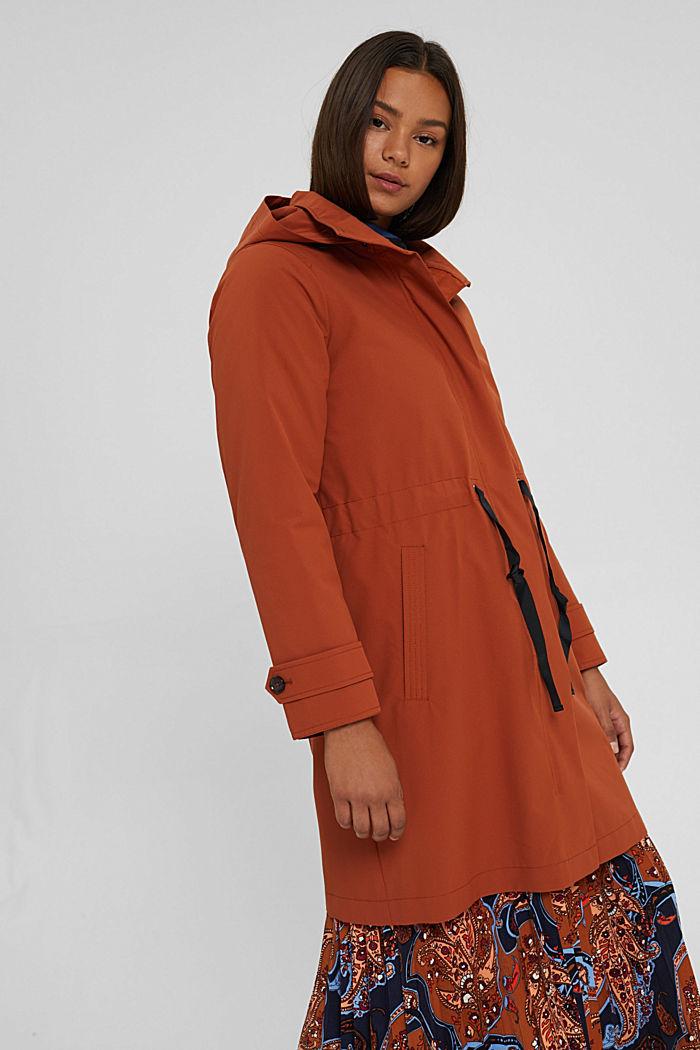 Manteau de pluie 2 en 1 à veste amovible, RUST ORANGE, detail image number 0