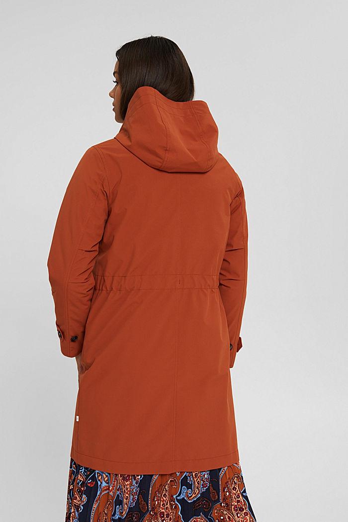 Manteau de pluie 2 en 1 à veste amovible, RUST ORANGE, detail image number 3