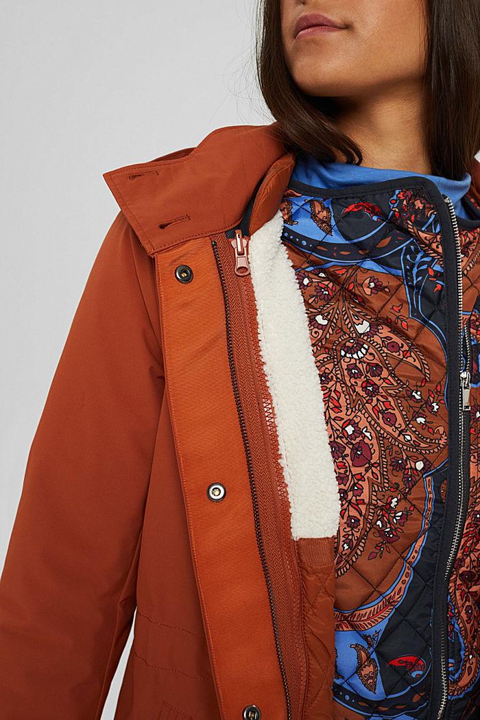 Manteau de pluie 2 en 1 à veste amovible, RUST ORANGE, detail image number 2