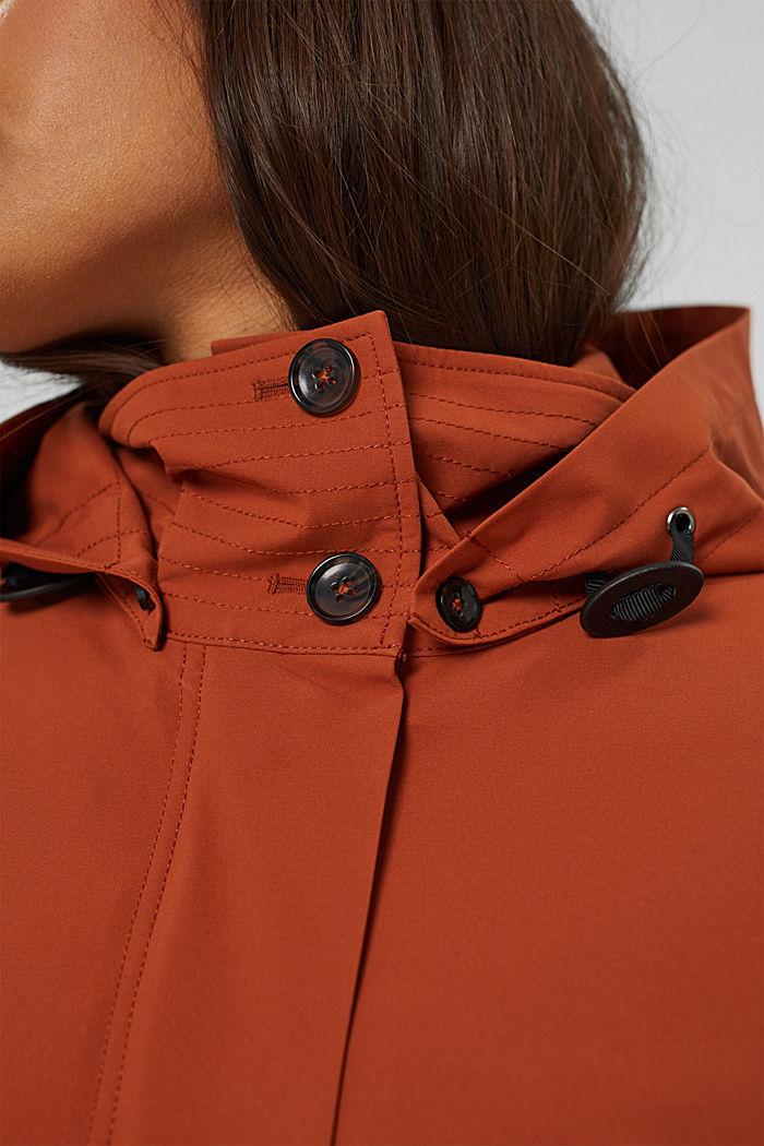 Manteau de pluie 2 en 1 à veste amovible, RUST ORANGE, detail image number 4