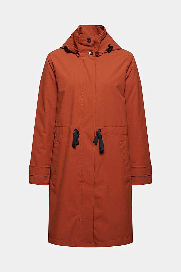 Abrigo impermeable 2 en 1 con chaqueta desmontable