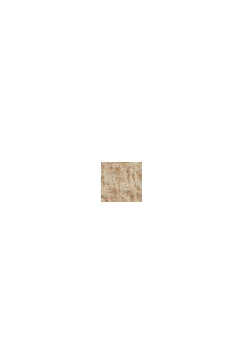 Aus recyceltem Woll-Mix: Mantel mit Waffelstruktur, BEIGE, swatch