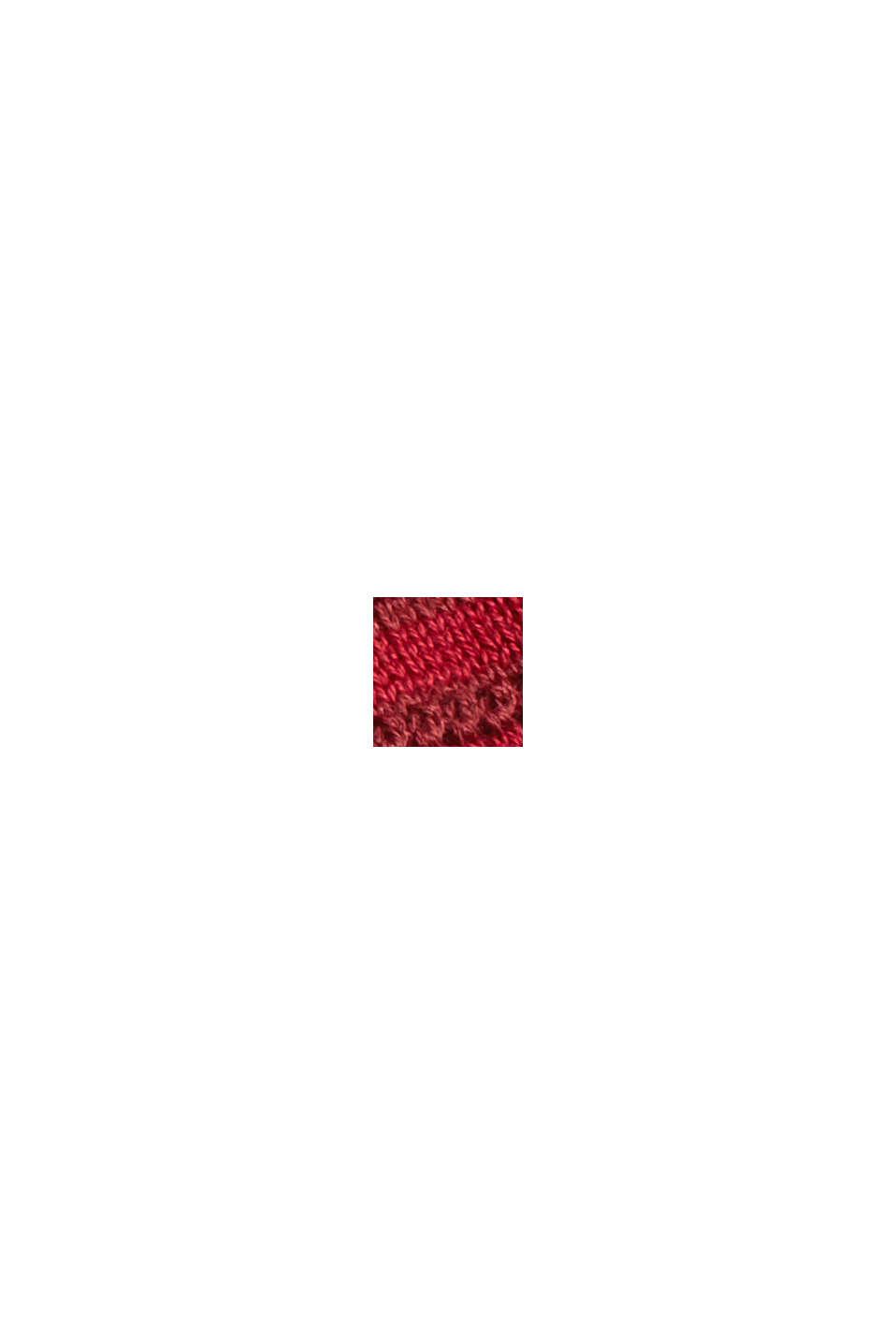 Trui met strepenstructuur, biologisch katoen, DARK RED, swatch