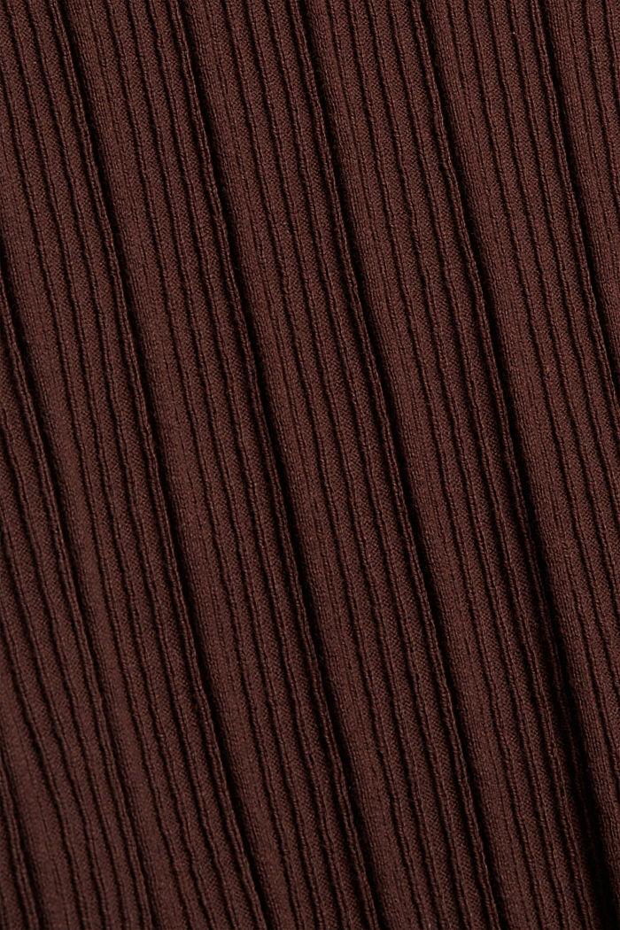 Geribde coltrui, 100% katoen, BROWN, detail image number 4