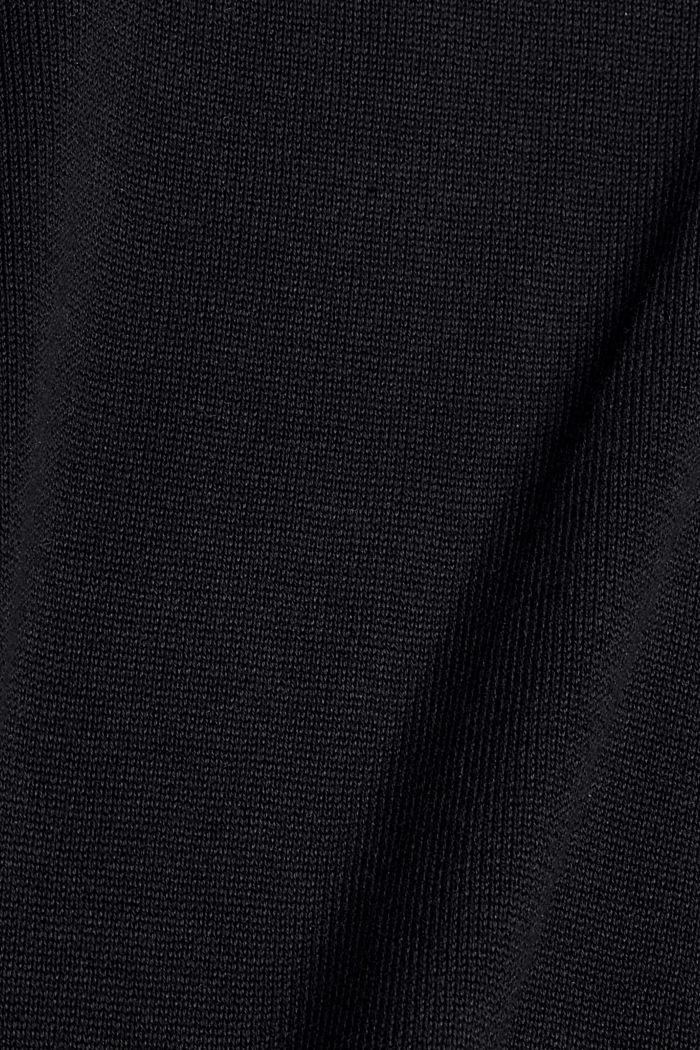 Boxy Rollkragen-Pullover aus 100% Bio-Baumwolle, BLACK, detail image number 4
