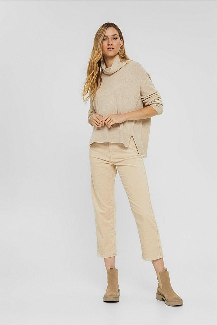 Boxy Rollkragen-Pullover aus 100% Bio-Baumwolle