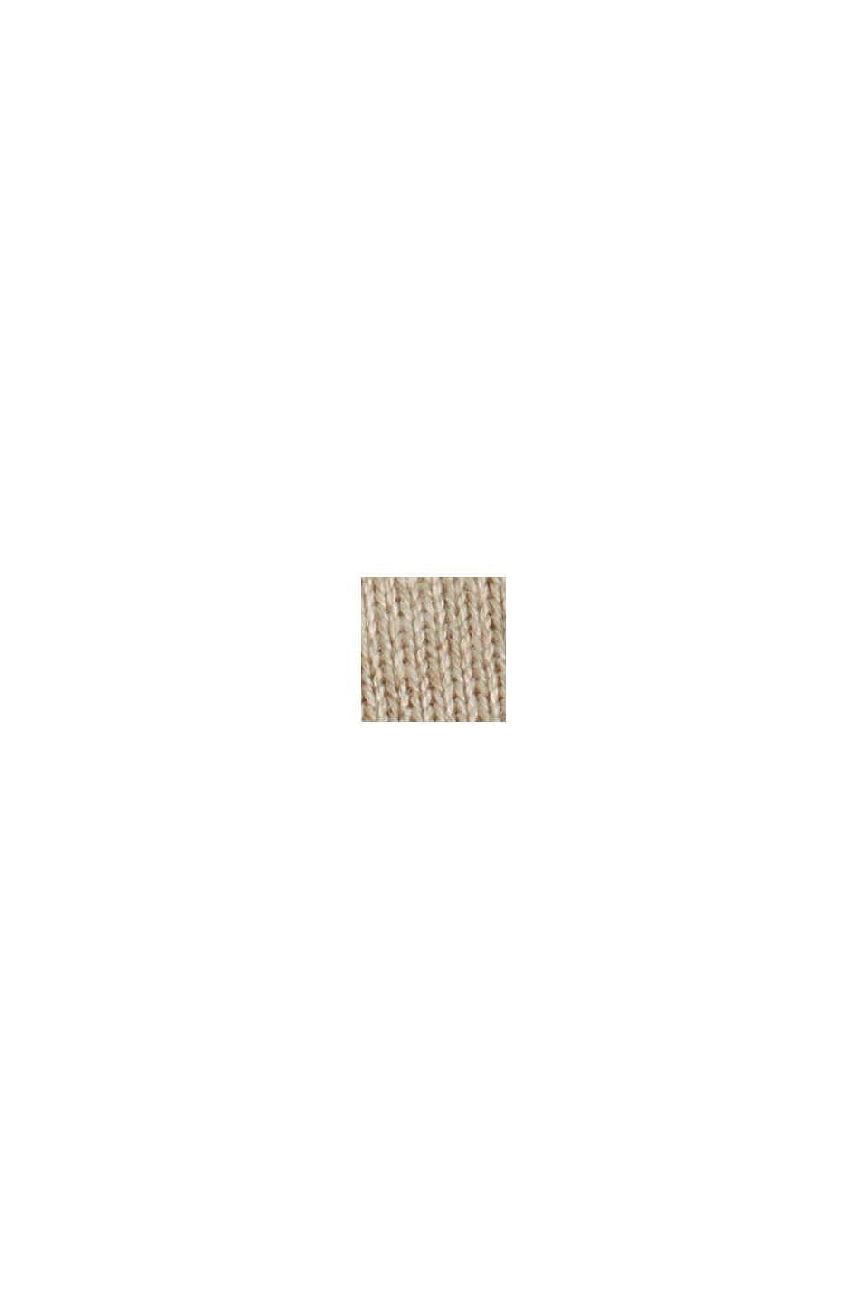 Boxy Rollkragen-Pullover aus 100% Bio-Baumwolle, BEIGE, swatch