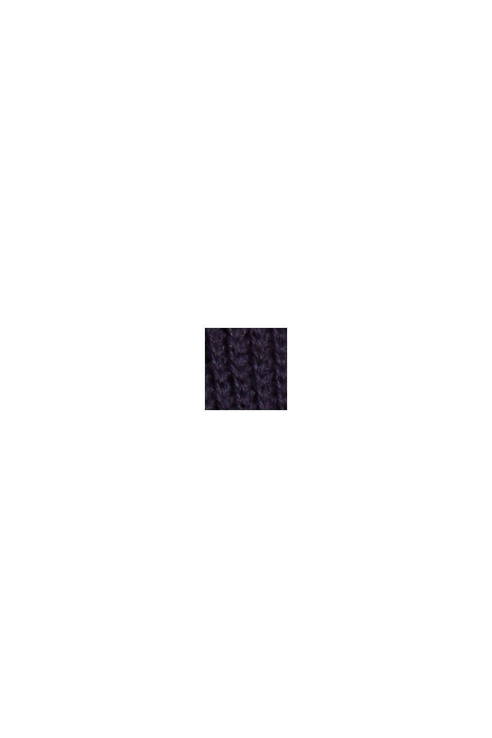 Boxy Rollkragen-Pullover aus 100% Bio-Baumwolle, NAVY, swatch