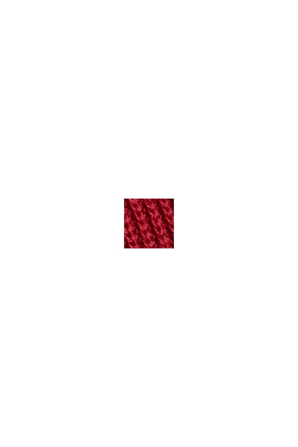 Boxy Rollkragen-Pullover aus 100% Bio-Baumwolle, DARK RED, swatch