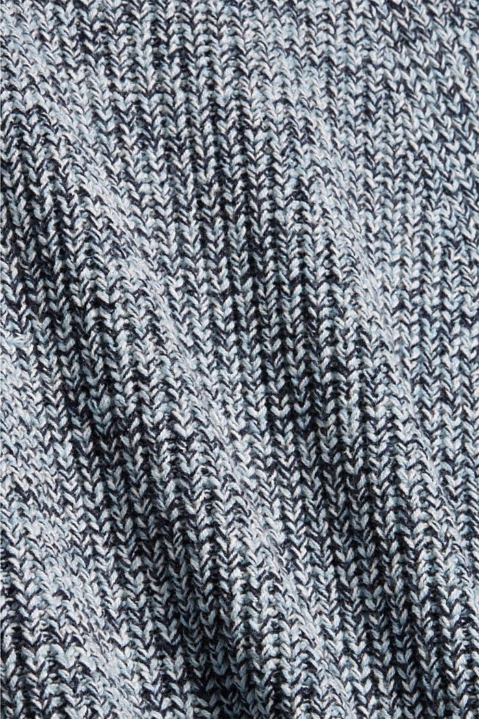 Mouline-Pullover aus Bio-Baumwoll-Mix, NAVY, detail image number 4