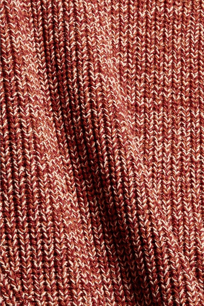 Mouline-Pullover aus Bio-Baumwoll-Mix, DARK RED, detail image number 4
