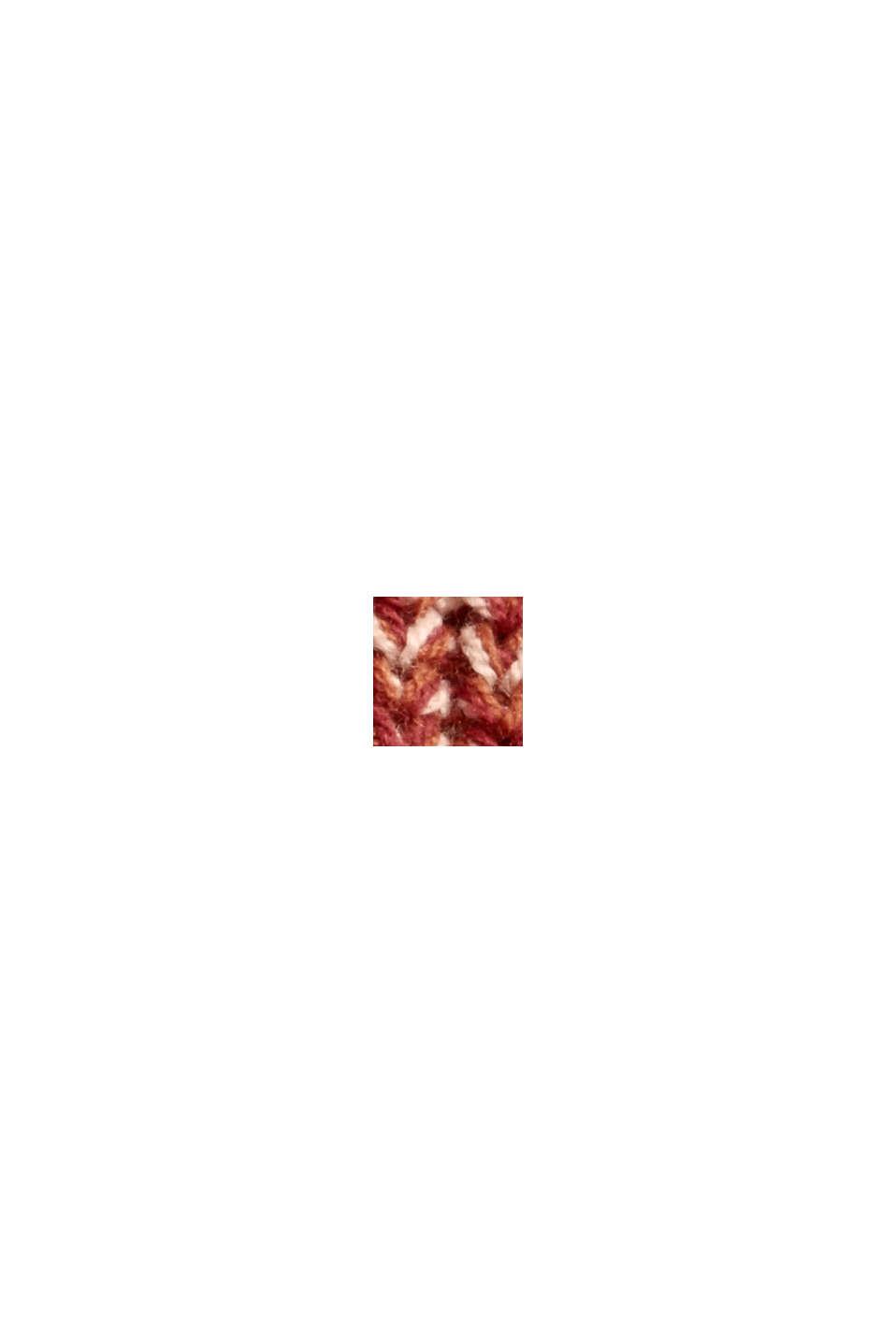 Mouline-Pullover aus Bio-Baumwoll-Mix, DARK RED, swatch