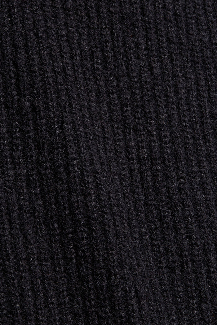 Mit Wolle/Alpaka: Pullunder mit Stehkragen, BLACK, detail image number 4