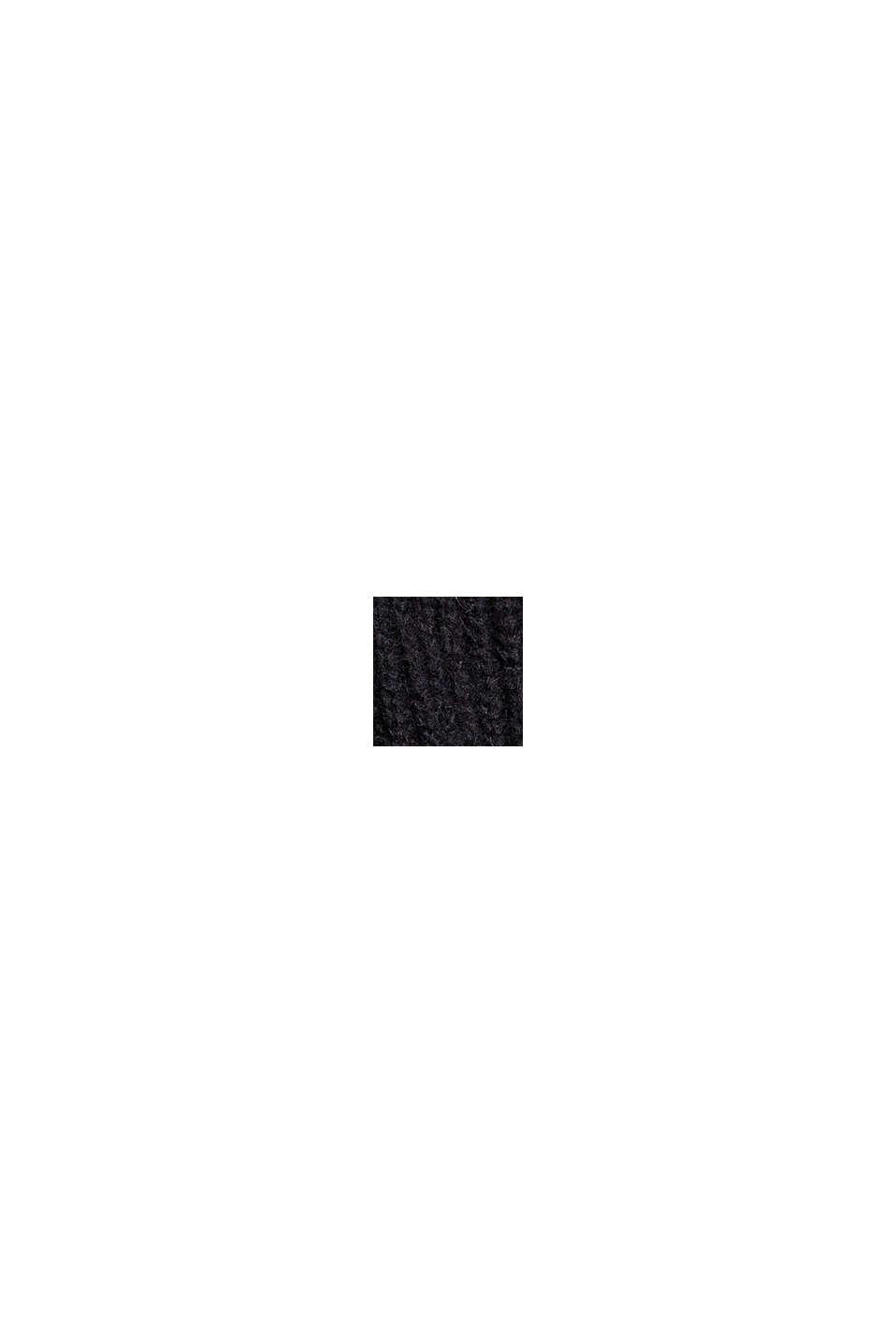 À teneur en laine/alpaga: débardeur à col droit, BLACK, swatch