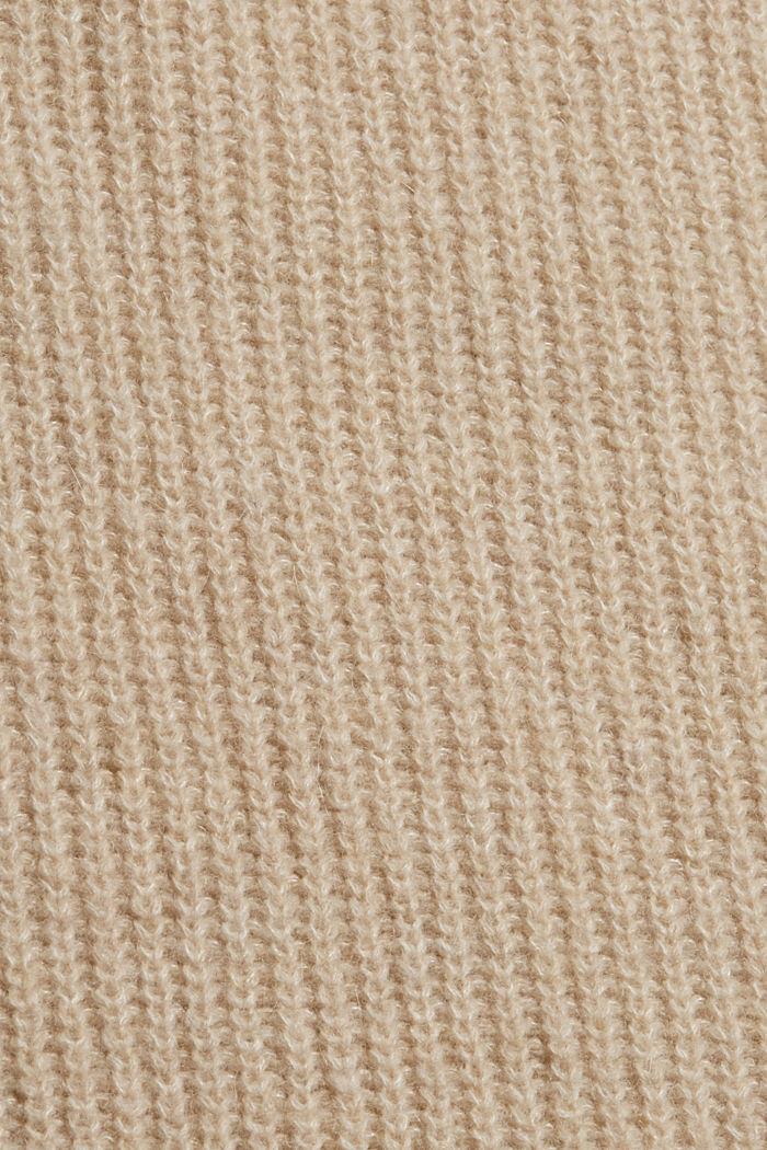 Mit Wolle/Alpaka: Pullunder mit Stehkragen, BEIGE, detail image number 4