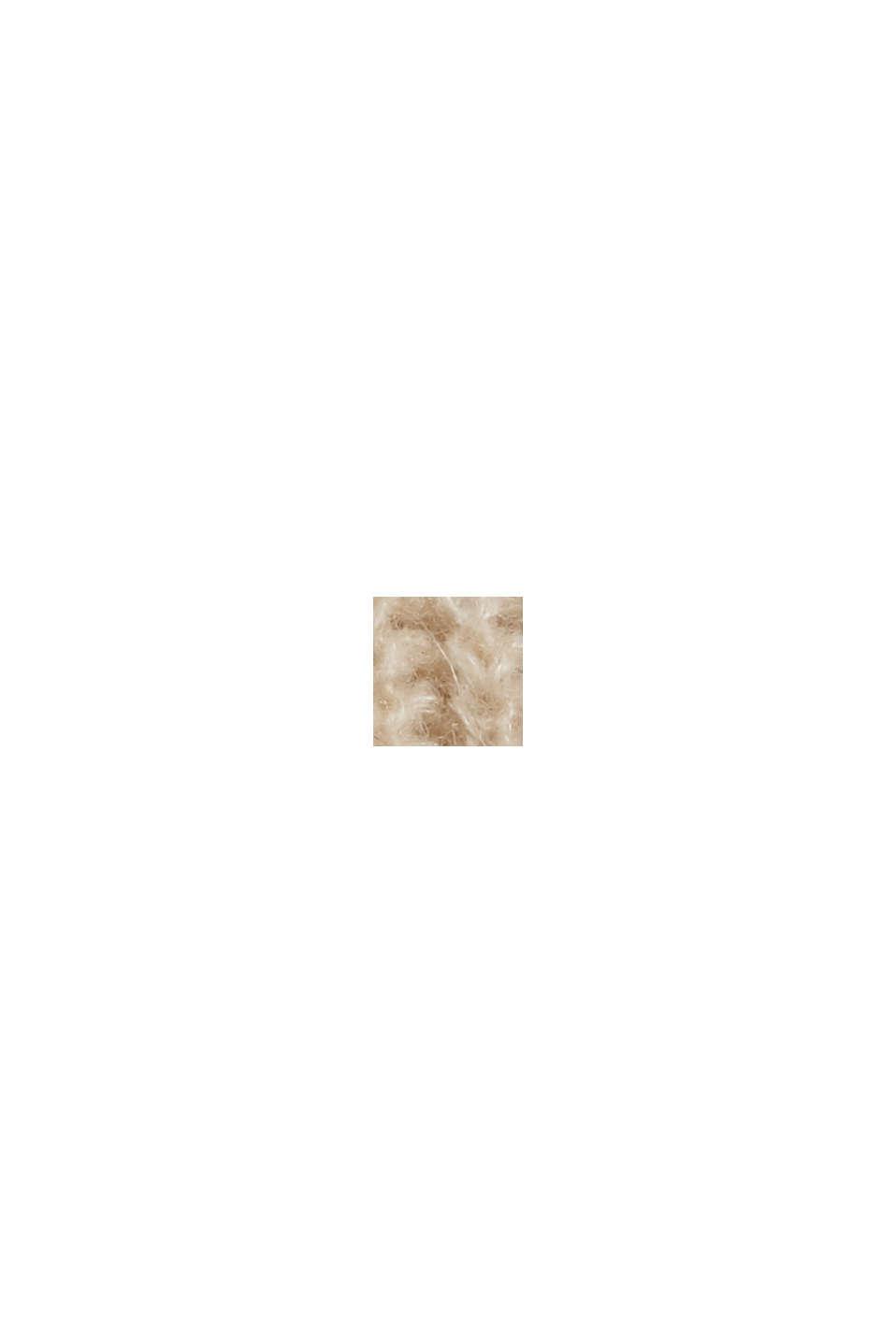 À teneur en laine/alpaga: débardeur à col droit, BEIGE, swatch