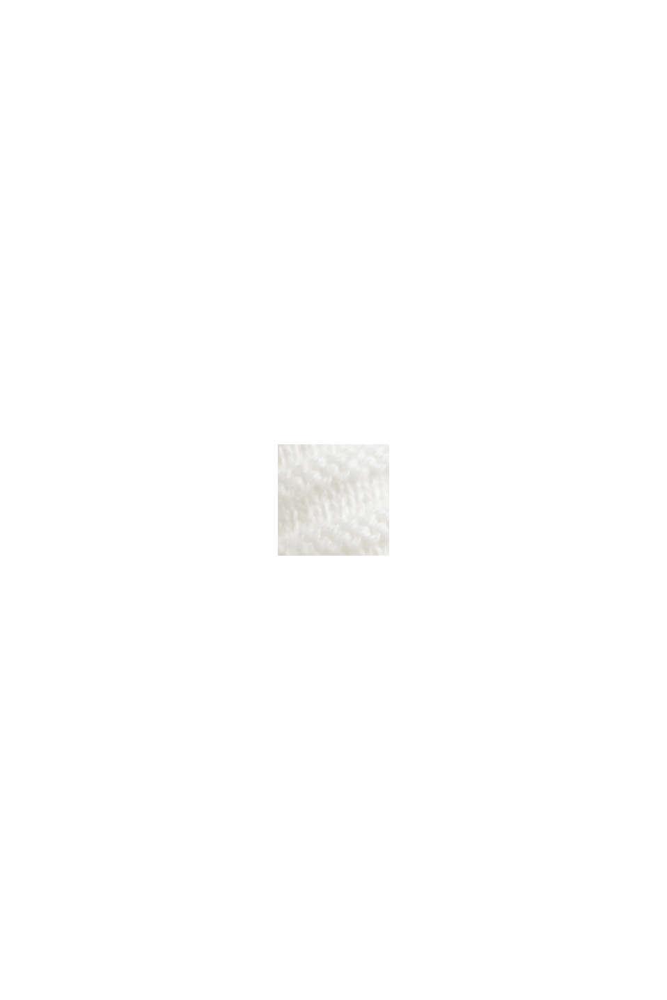 Geribde trui met kraag met tunnelkoord, katoen, OFF WHITE, swatch