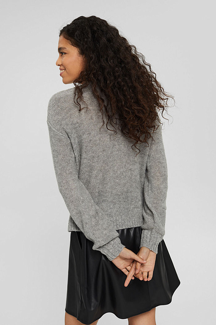 Wool blend: jumper with inside-out seams, MEDIUM GREY, detail image number 3