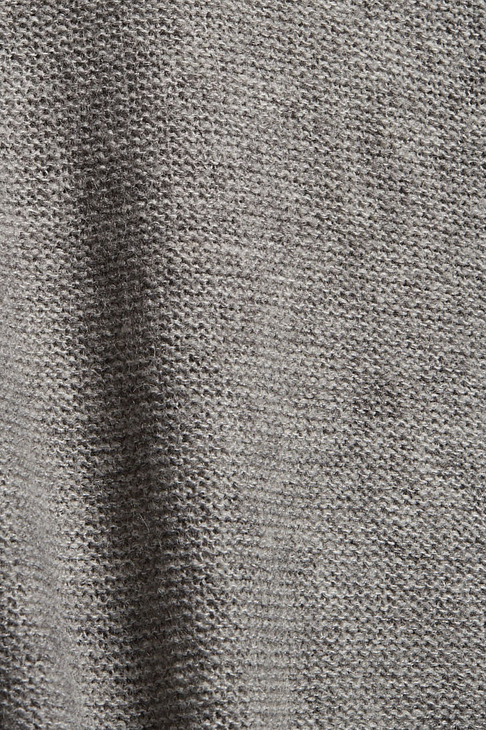 Wool blend: jumper with inside-out seams, MEDIUM GREY, detail image number 4