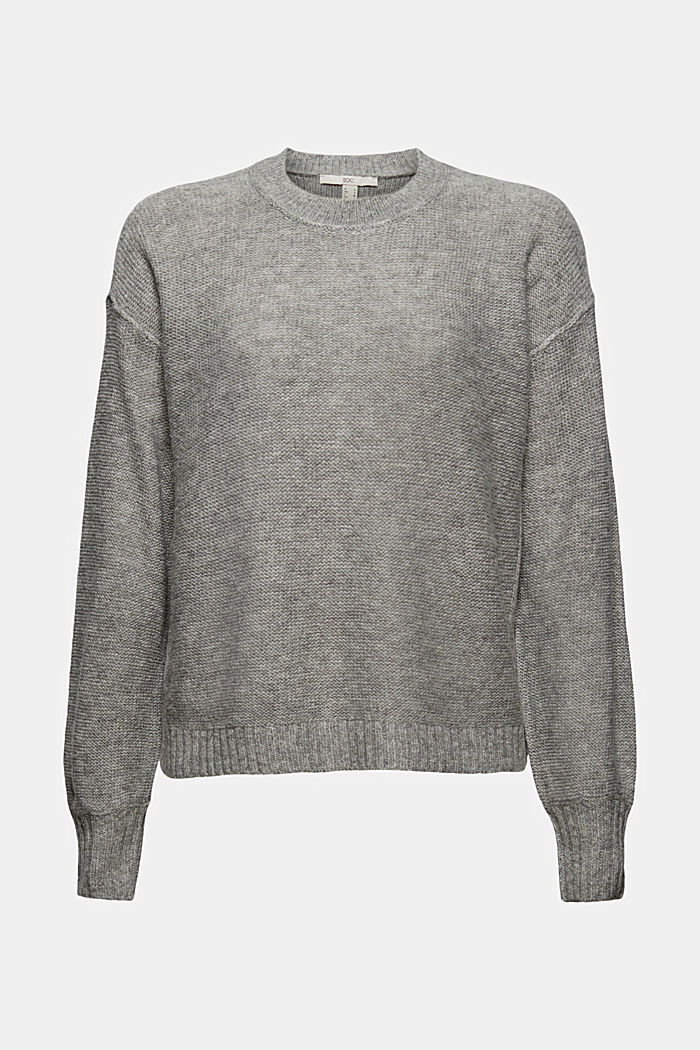 Wool blend: jumper with inside-out seams, MEDIUM GREY, detail image number 6