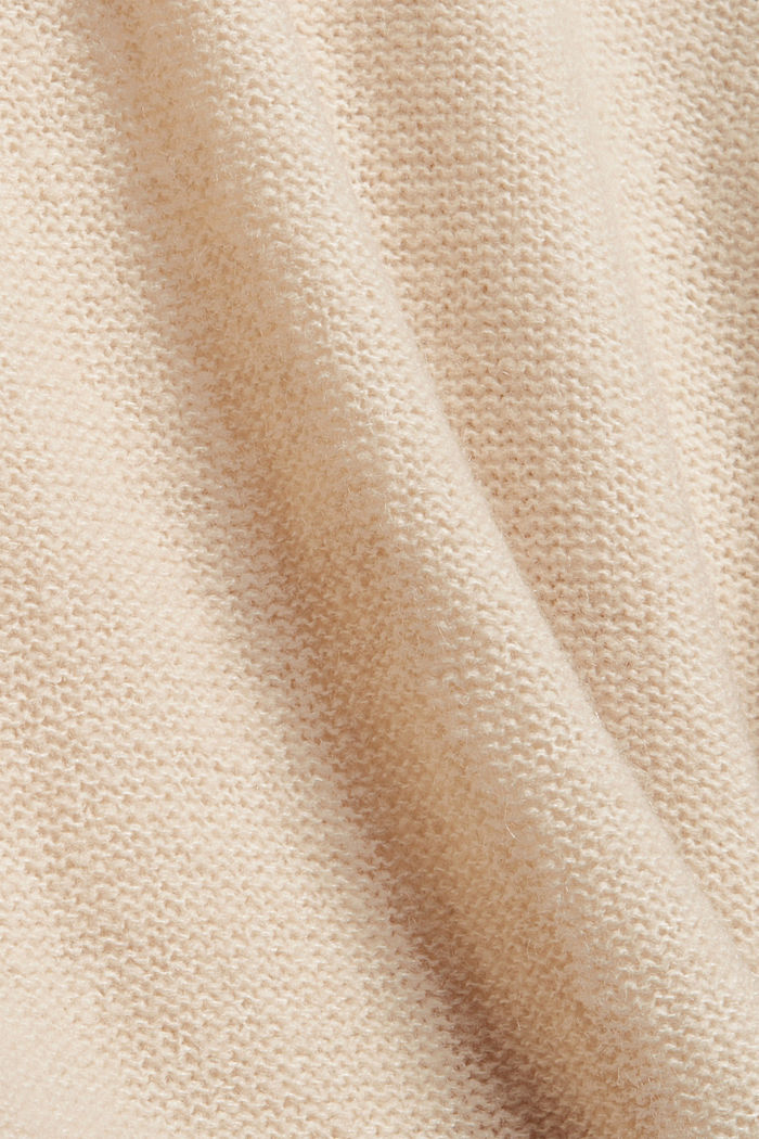 Wool blend: jumper with inside-out seams, BEIGE, detail image number 4