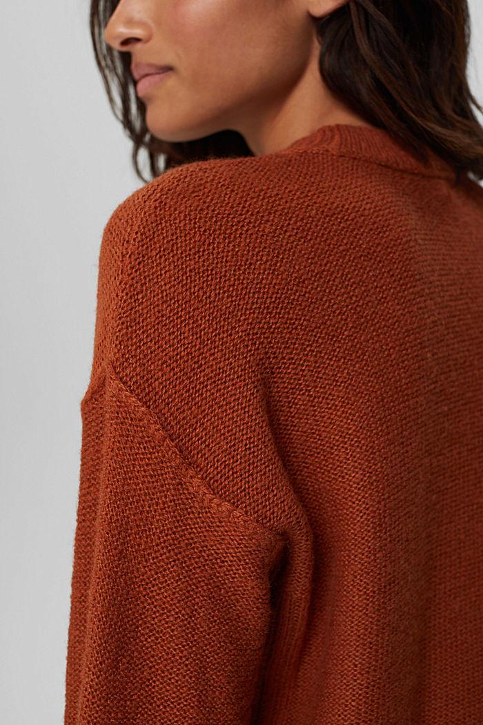 À teneur en laine: le pull-over à coutures inversées, RUST ORANGE, detail image number 2