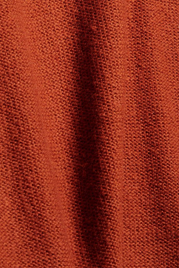 À teneur en laine: le pull-over à coutures inversées, RUST ORANGE, detail image number 4