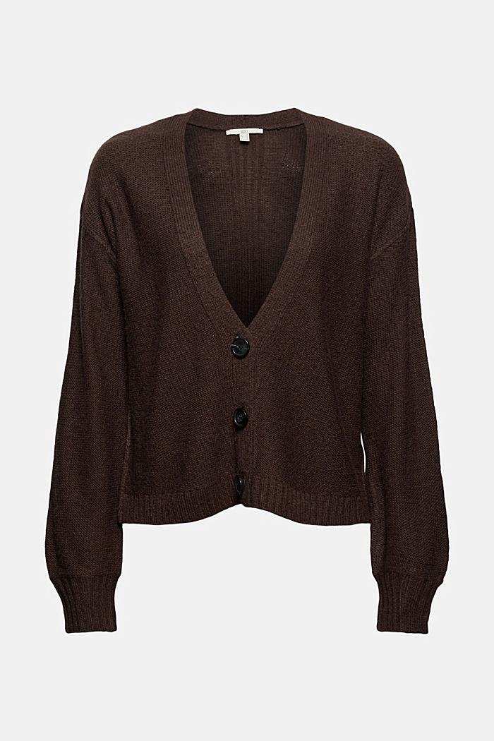 Con lana: cárdigan con costuras del revés