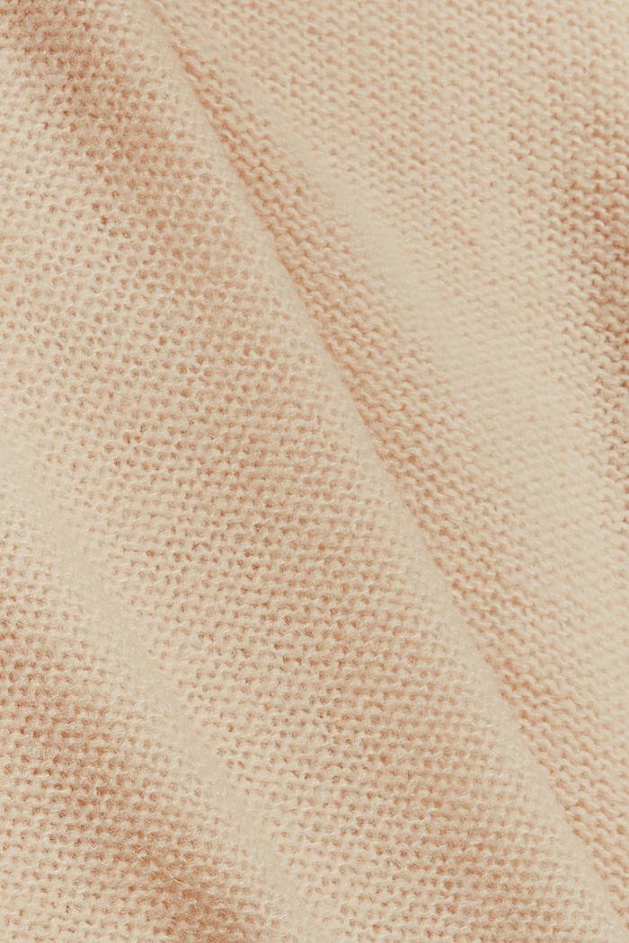 Met wol: vest met inside-out-naden, BEIGE, detail image number 4