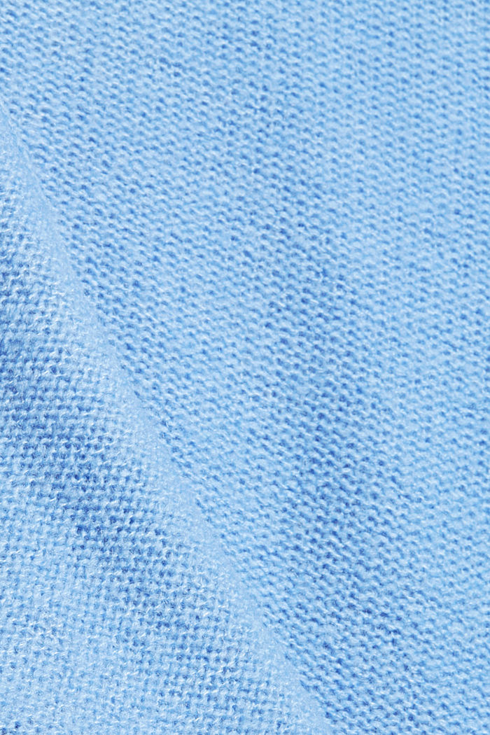 Mit Wolle: Cardigan mit Inside-Out-Nähten, BRIGHT BLUE, detail image number 4