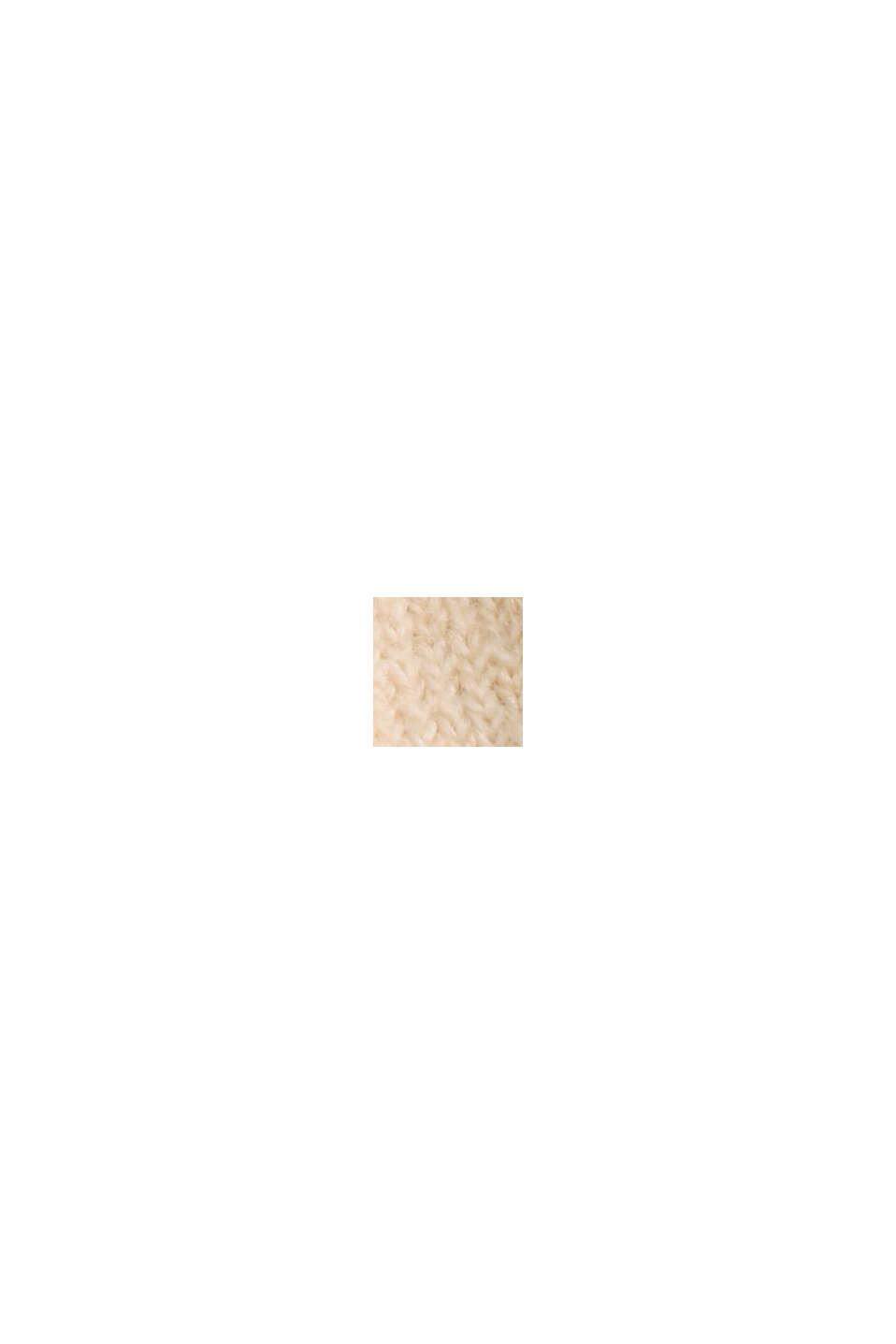 À teneur en laine: le pull-over à coutures inversées, BEIGE, swatch