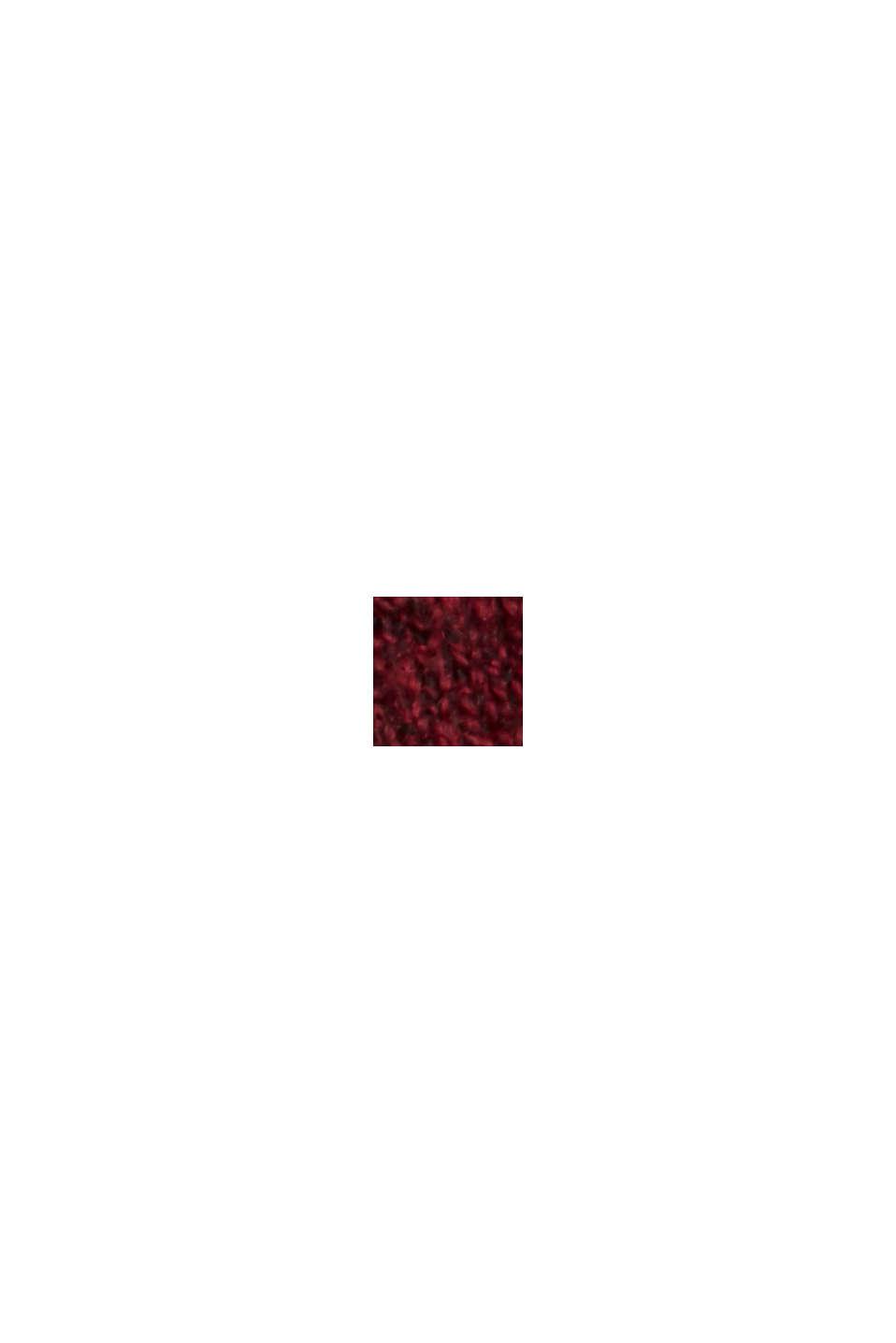 À teneur en laine: le pull-over à coutures inversées, DARK RED, swatch