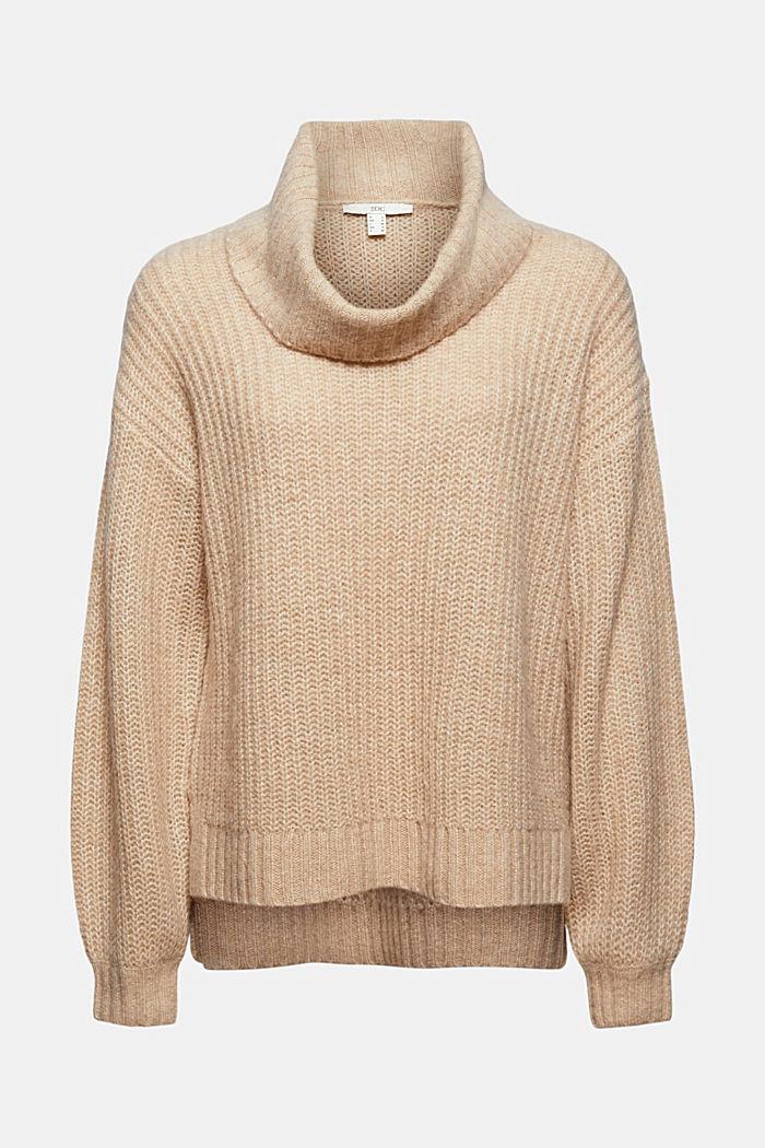 Mit Wolle/Alpaka: Rollkragen-Pullover