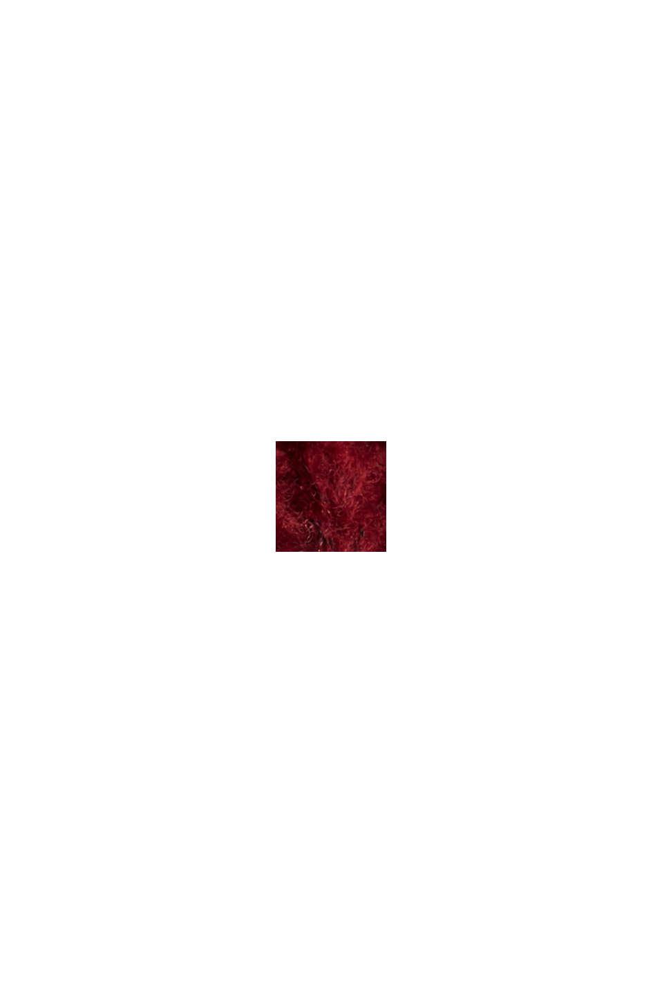 Mit Wolle/Alpaka: Rollkragen-Pullover, DARK RED, swatch