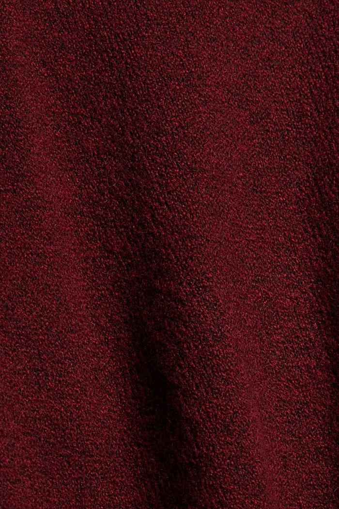 Sweaters Oversized shoulder detail sw, DARK RED, detail image number 4
