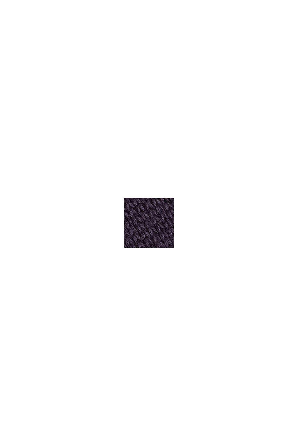 Pullover mit Stickerei, Organic Cotton, NAVY, swatch
