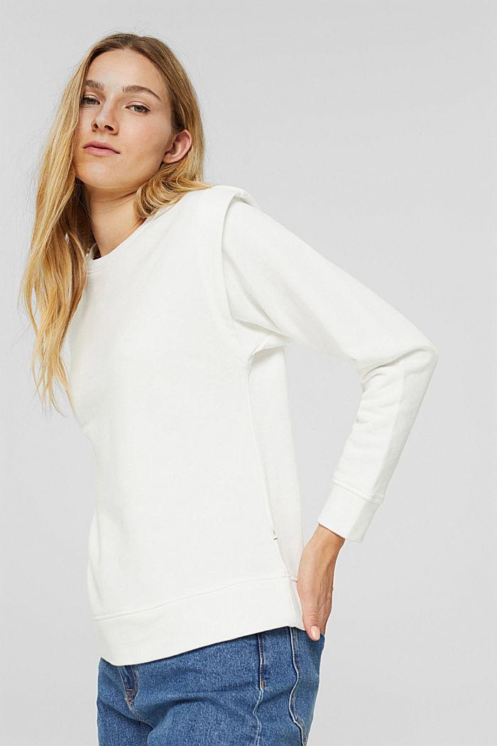 Sweatshirt mit betonten Schultern, OFF WHITE, detail image number 0
