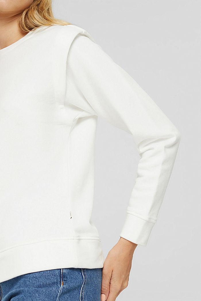Sweatshirt mit betonten Schultern, OFF WHITE, detail image number 2