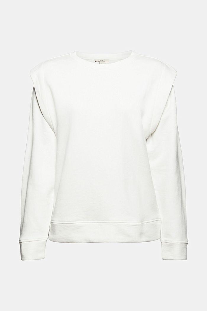Sweatshirt mit betonten Schultern, OFF WHITE, detail image number 5