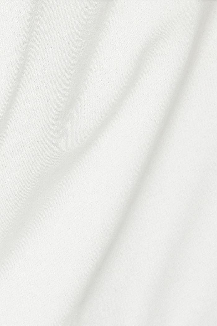 Sweatshirt met statement, 100% biologisch katoen, OFF WHITE, detail image number 4