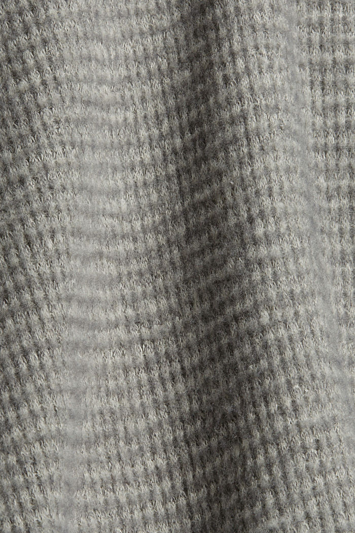 Sweathoodie mit Waffelstruktur, MEDIUM GREY, detail image number 4